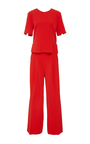 Short Sleeve Lane Jumpsuit by NELLIE PARTOW for Preorder on Moda Operandi