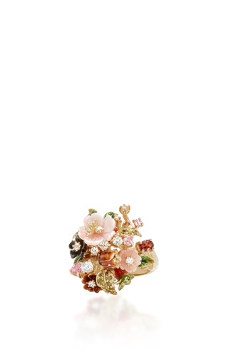 Medium anabela chan gold bouquet ring