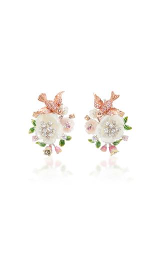 Medium anabela chan white swallow earrings