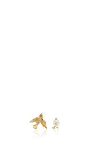 Medium anabela chan gold yellow gold swallow studs