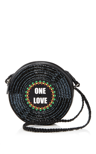 Medium sarah s bag black surround one love crossbody