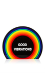 Vinyl Perspex Good Vibrations Clutch by SARAH'S BAG for Preorder on Moda Operandi