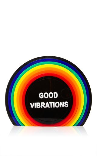 Medium sarah s bag multi vinyl perspex good vibrations clutch