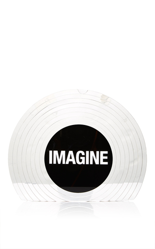 Vinyl Perspex Imagine Clutch by SARAH'S BAG for Preorder on Moda Operandi