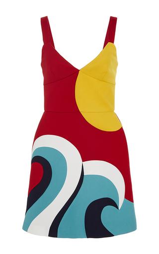 Medium red valentino multi sun and wave dress