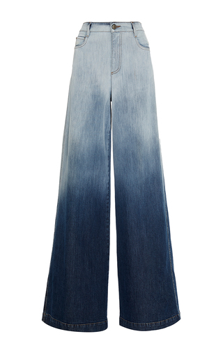 Medium red valentino blue ombred wide legged denim trousers