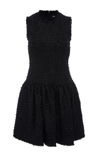 Medium simone rocha black sleeveless tweed mini dress