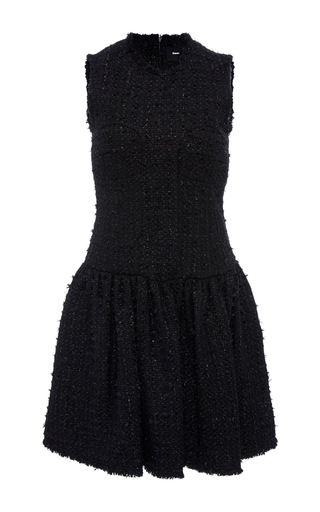 Medium simone rocha black sleeveless tweed mini dress