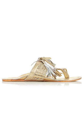 Medium figue gold gold scaramouche sandal