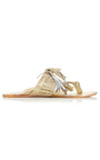 Gold Scaramouche Sandal by FIGUE for Preorder on Moda Operandi