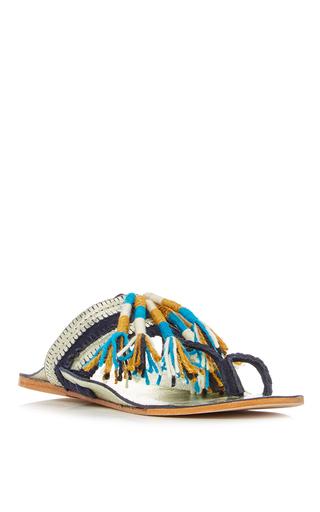 Blue Zola Sandal by FIGUE for Preorder on Moda Operandi