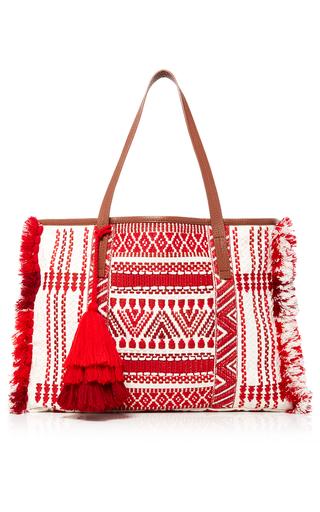 Red Sangita Weekender by FIGUE for Preorder on Moda Operandi