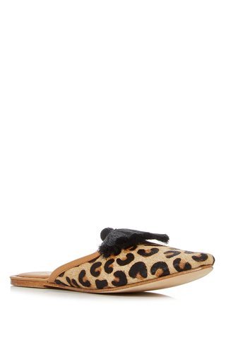Leopard Haircalf Audrey Slide by FIGUE for Preorder on Moda Operandi