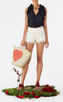 Berry Scaramouche Sandal by FIGUE for Preorder on Moda Operandi