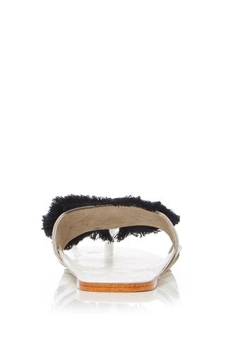 White Evil Eye Sandal by FIGUE for Preorder on Moda Operandi