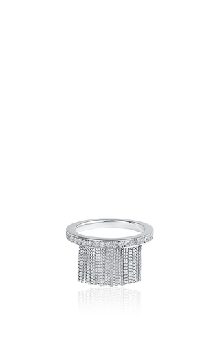 Medium jack vartanian silver love ny fringe ring in white gold with diamonds