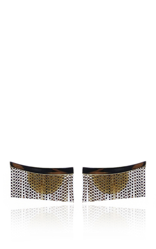 Medium jack vartanian gold love ny fringe earrings in yellow gold