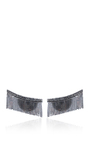 Love Ny Diamond Fringe Earrings In White Gold With Diamonds by JACK VARTANIAN for Preorder on Moda Operandi