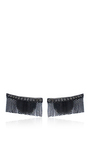 Love Ny Diamond Fringe Earrings In White Gold And Black Rhodium With Diamonds by JACK VARTANIAN for Preorder on Moda Operandi