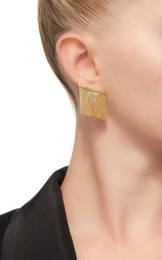 Love Ny Large Fringe Earrings In Yellow Gold by JACK VARTANIAN for Preorder on Moda Operandi
