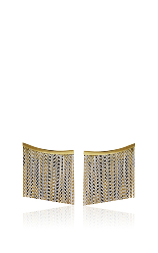Medium jack vartanian gold love ny large fringe earrings yellow gold in yellow gold