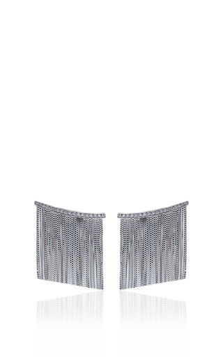 Medium jack vartanian silver love ny large fringe earrings in white gold with diamonds