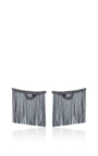 Love Ny Large Diamond Fringe Earrings In White Gold And Black Rhodium With Diamonds by JACK VARTANIAN for Preorder on Moda Operandi