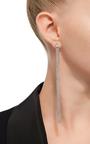 Love Ny Xl Diamond Fringe Earrings In White Gold With Diamonds by JACK VARTANIAN for Preorder on Moda Operandi