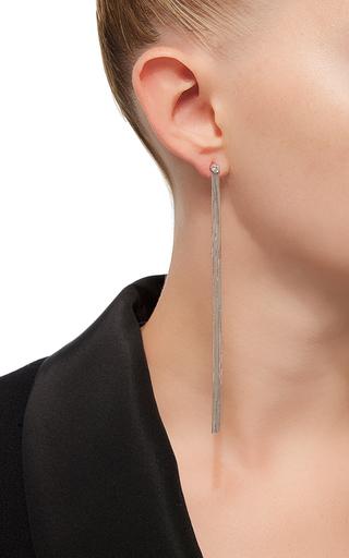 Love Ny Long Diamond Fringe Earrings In White Gold With Diamond by JACK VARTANIAN for Preorder on Moda Operandi