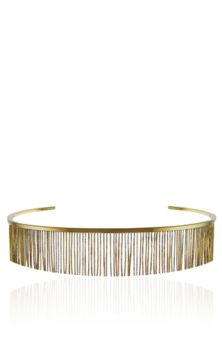Medium jack vartanian gold love ny fringe choker in yellow gold