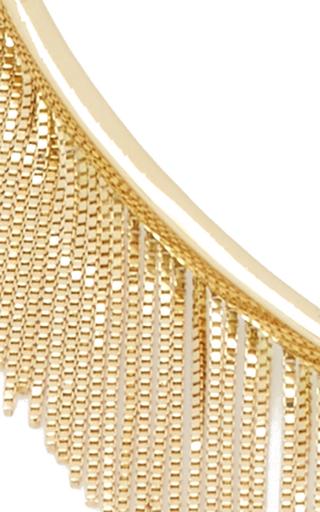 Love Ny Fringe Choker In Yellow Gold by JACK VARTANIAN for Preorder on Moda Operandi