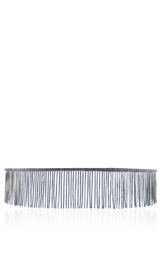 Love Ny Diamond Fringe Choker In White Gold With Diamonds by JACK VARTANIAN for Preorder on Moda Operandi