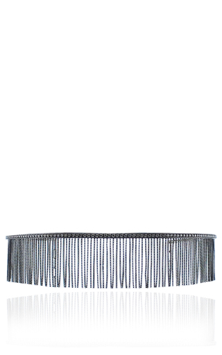 Medium jack vartanian black love ny fringe choker in white gold and black rhodium with diamonds