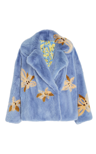 Karen Printed Mink Coat by SAKS POTTS for Preorder on Moda Operandi