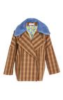 Wide Lapel Mink Collar Coat by SAKS POTTS for Preorder on Moda Operandi
