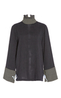 Mint Mock Neck Blouse by SAKS POTTS for Preorder on Moda Operandi