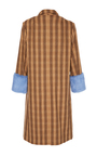 Plaid Mink Cuff Coat by SAKS POTTS for Preorder on Moda Operandi