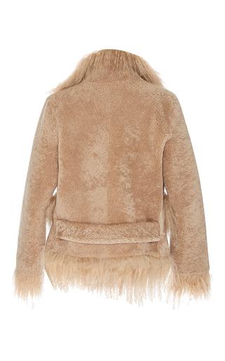 Jimi Cleome Mongolian Fur Trim Coat by SAKS POTTS for Preorder on Moda Operandi