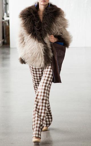 Two Tone Mongolian Fur Short Coat by SAKS POTTS for Preorder on Moda Operandi