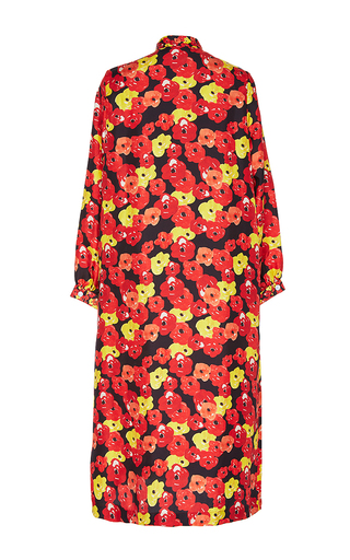 Poppy Tie Neck Floral Dress by SAKS POTTS for Preorder on Moda Operandi