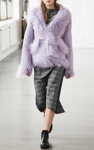 Jimi Mongolian Fur Trim Coat by SAKS POTTS for Preorder on Moda Operandi