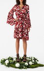Lace Up Floral Poet Dress by FIGUE for Preorder on Moda Operandi