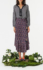 Printed Maxime Midi Skirt by FIGUE for Preorder on Moda Operandi