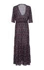 Printed V Neck Kalila Dress by FIGUE for Preorder on Moda Operandi