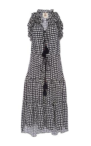 Medium figue print sleeveless dot print dress