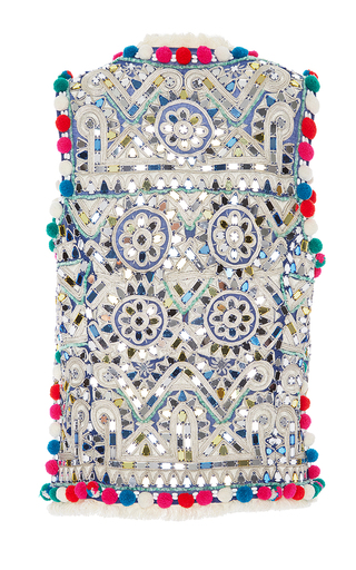 Embellished Cosmo Vest by FIGUE for Preorder on Moda Operandi