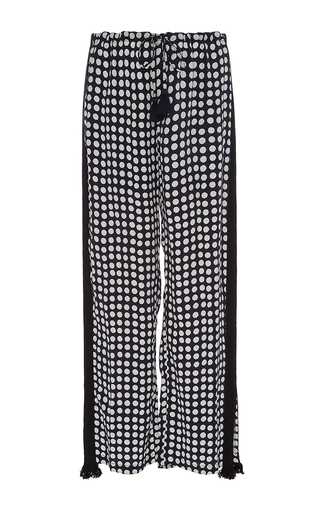 Medium figue print cropped cova pants