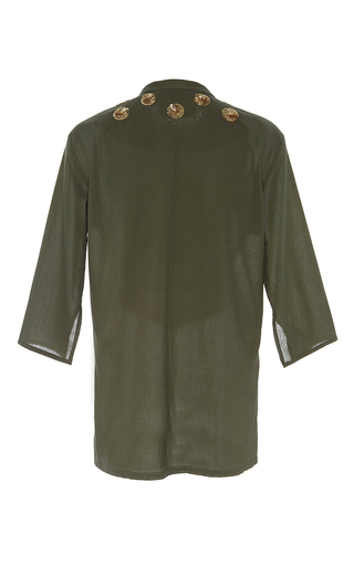 Olive Sequin Embellished Jasmine Tunic by FIGUE for Preorder on Moda Operandi