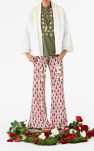Printed Wide Leg Ipanema Pants by FIGUE for Preorder on Moda Operandi