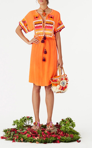 Embroidered Lucianna Dress by FIGUE for Preorder on Moda Operandi